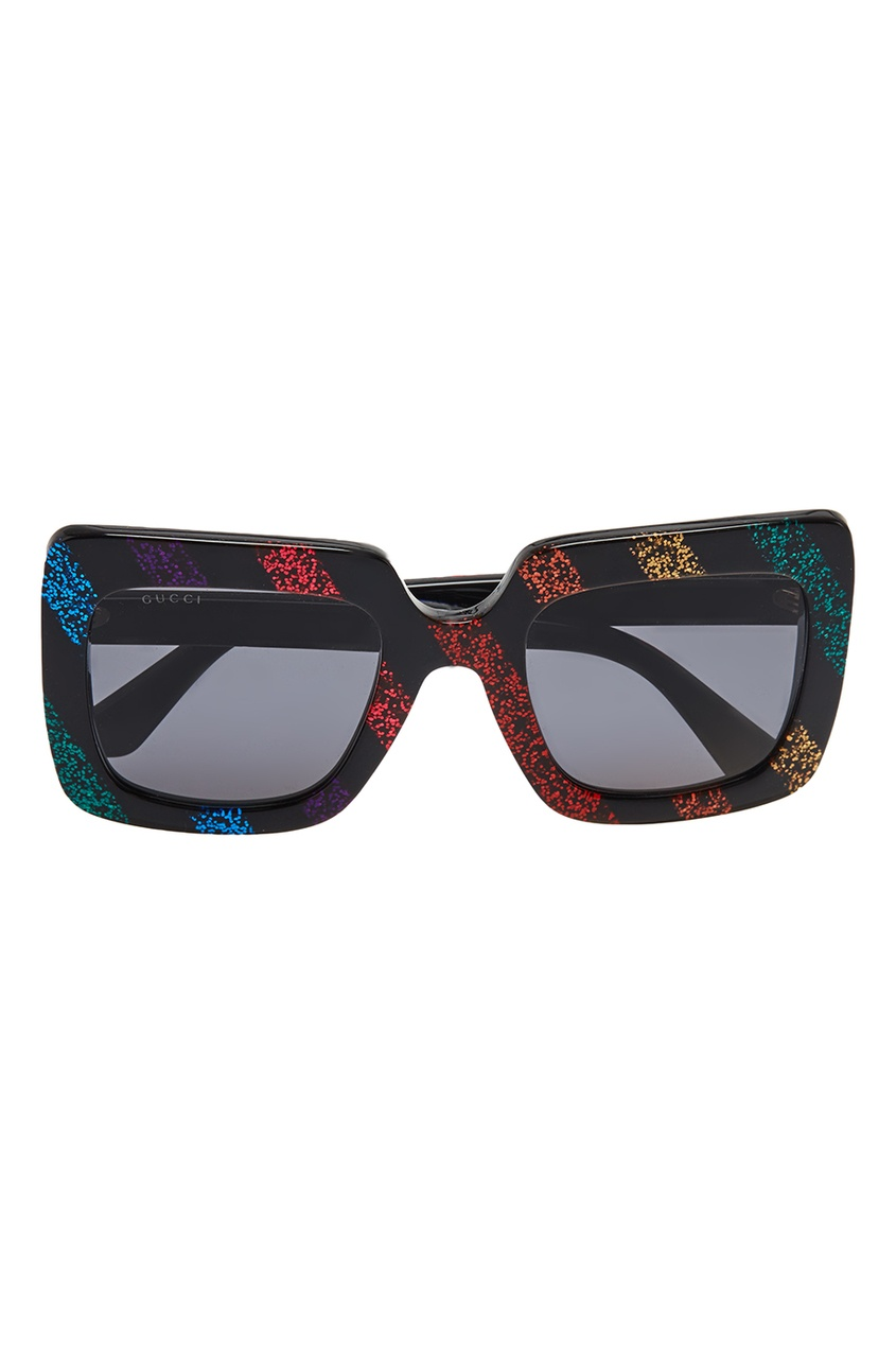 Квадратные очки с глиттером
