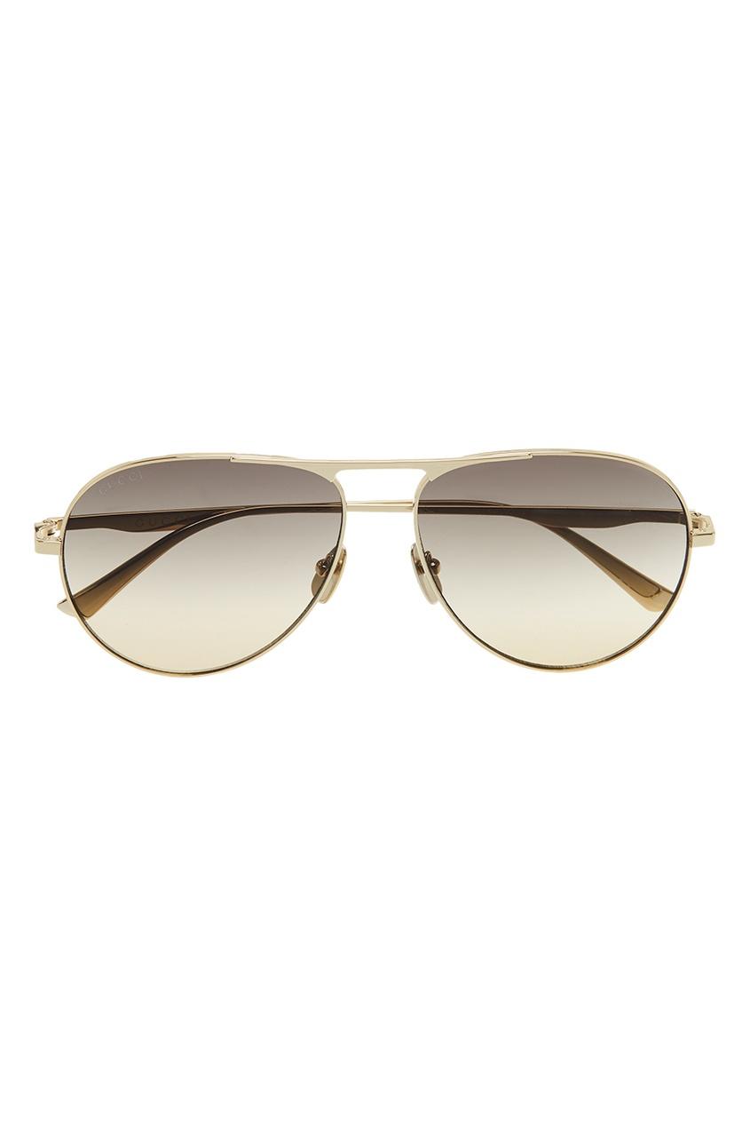Коричневые очки-авиаторы