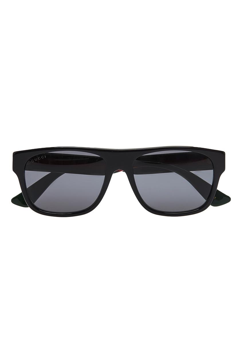 Gucci Черные солнцезащитные очки gucci черные сапоги с эластичной деталью