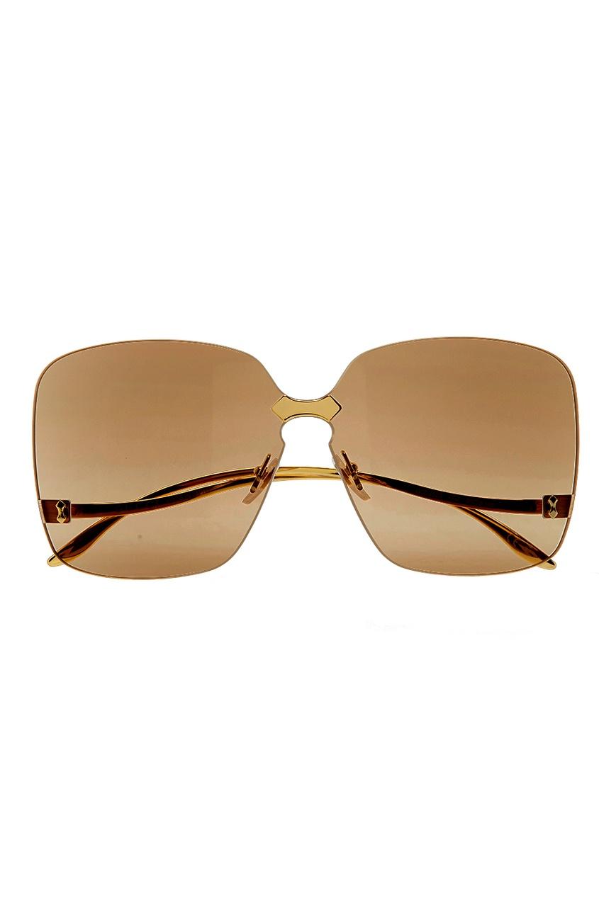 Gucci Полупрозрачные солнцезащитные очки incity kids футболка с длинным рукавом