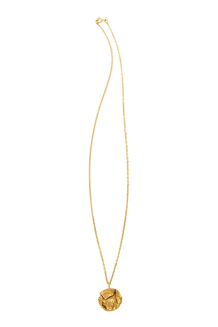 Купить Круглая позолоченная подвеска от RINGSTONE золотого цвета