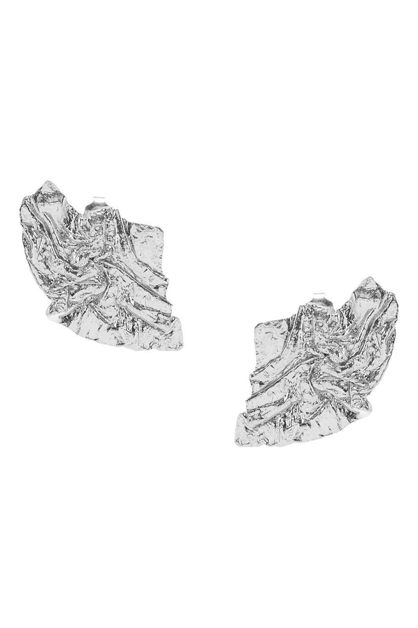 Серебряные серьги-гвоздики