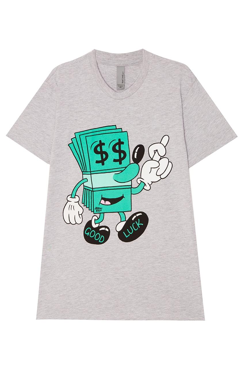 Серая футболка с долларом