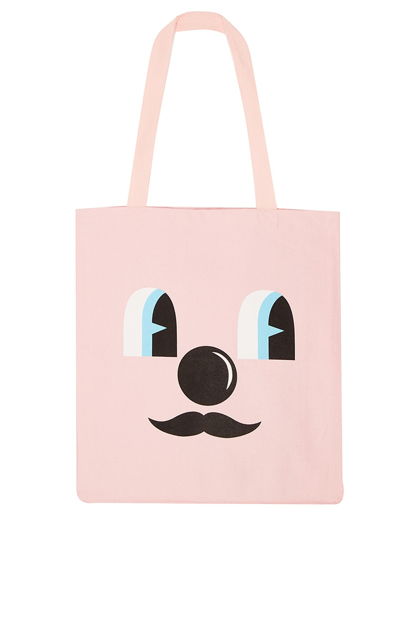 Jeremyville Розовая сумка из хлопка  принтом Q-Tees Of California/ Print