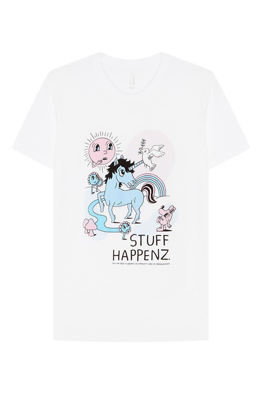 Хлопковая футболка с принтом