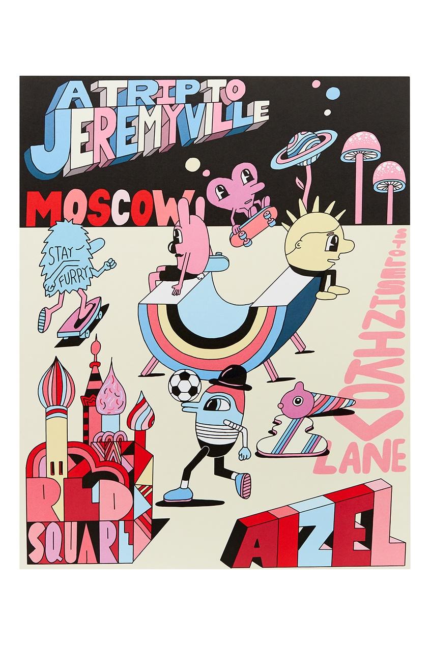 где купить Jeremyville Постер Moscow по лучшей цене