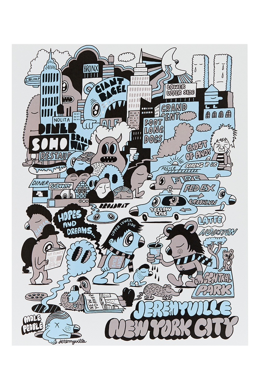 Jeremyville Постер New York City ветровка zoo york sketchy city navy 1099473