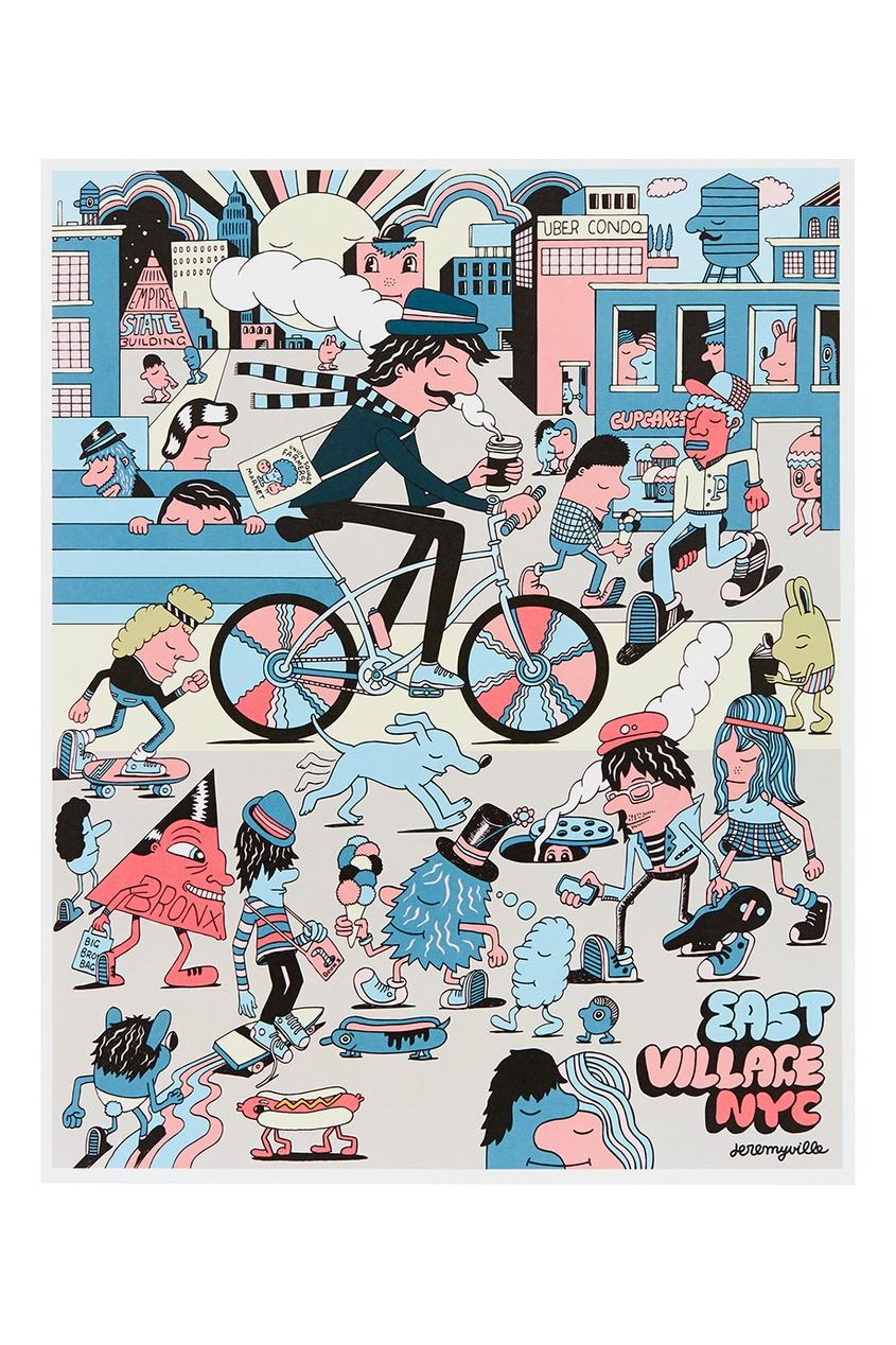 где купить Jeremyville Постер East Village, NYC по лучшей цене