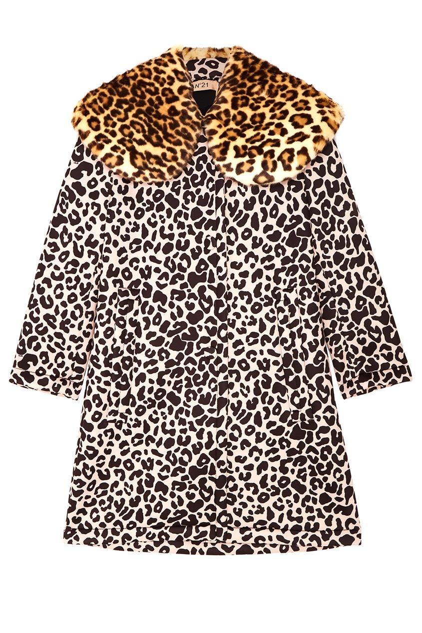 Купить со скидкой Пальто с леопардовым принтом