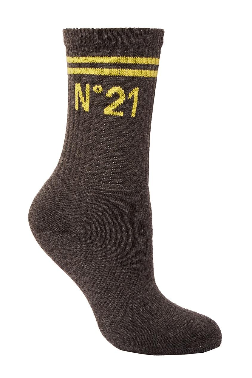 Серые хлопковые носки