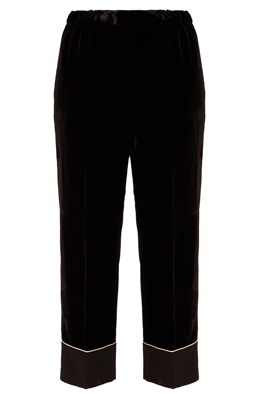 No.21 Черные бархатные брюки no 21 голубые брюки из хлопка