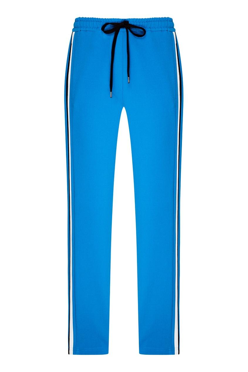 No.21 Трикотажные брюки синего цвета no 21 голубые брюки из хлопка