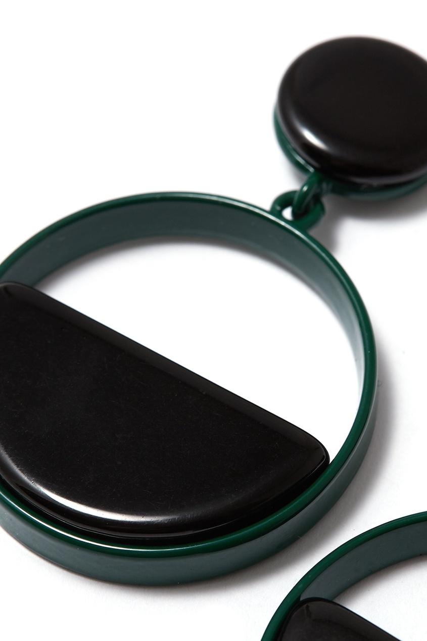 Черные серьги-кольца Aloud 224385909 Multicolor фото