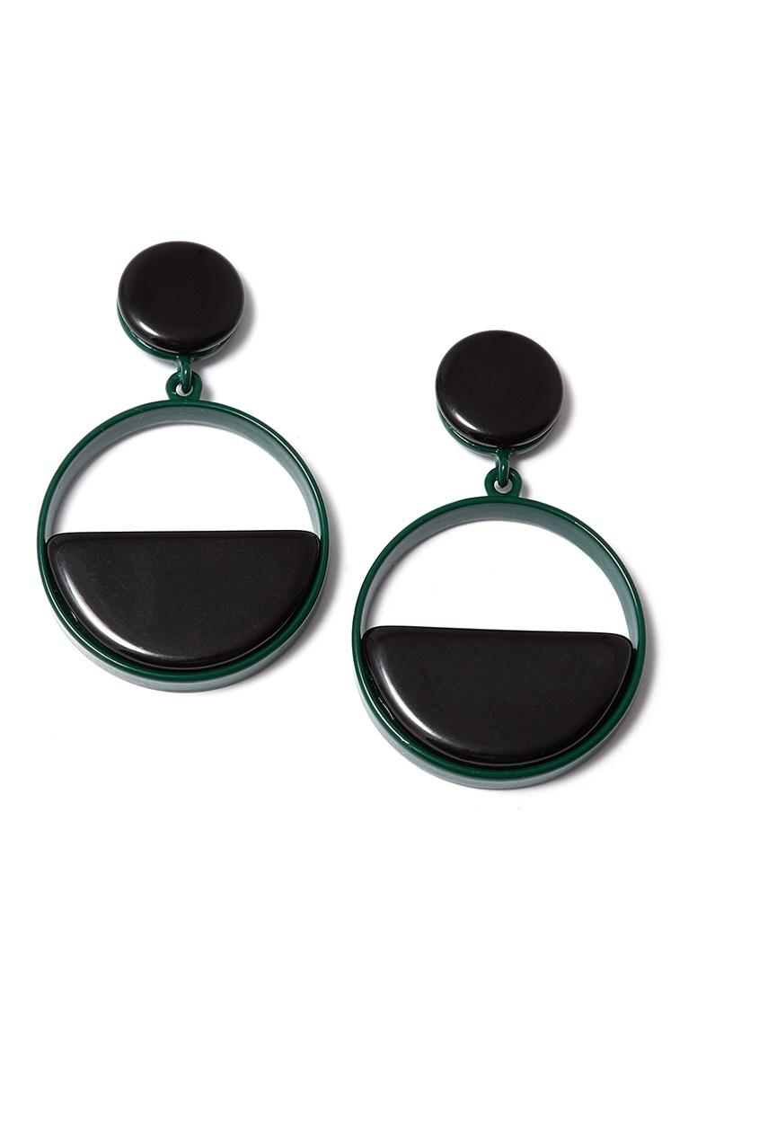 Черные серьги-кольца