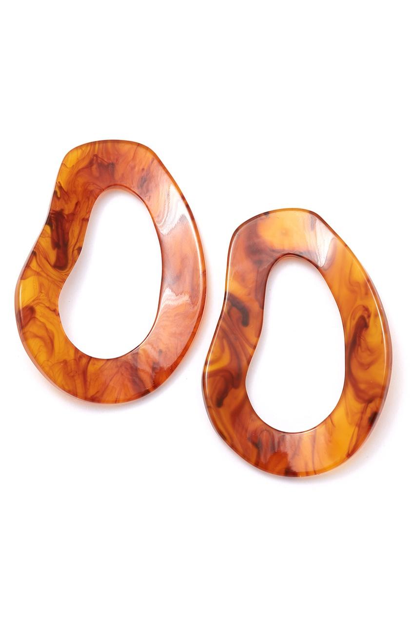 Коричневые серьги-кольца