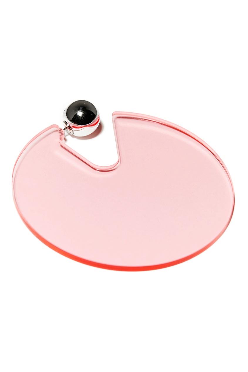 Розовые серьги-диски Aloud 224385918 Multicolor фото