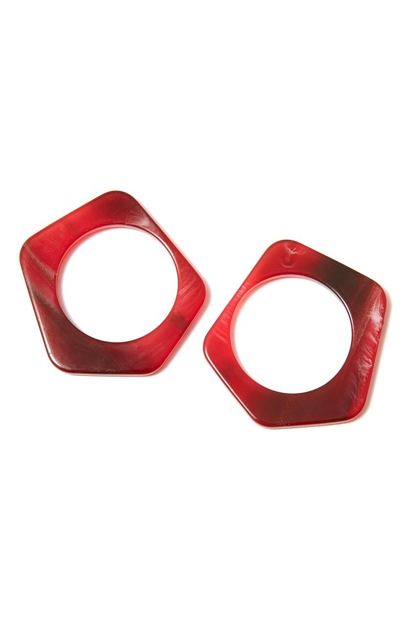 Aloud Красные пластиковые серьги