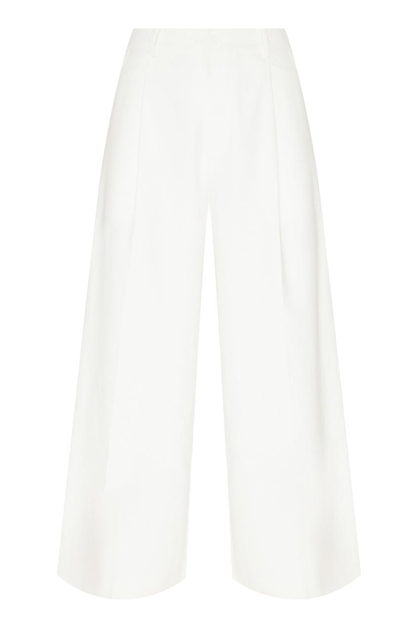 Белые брюки из хлопка D.O.T.127