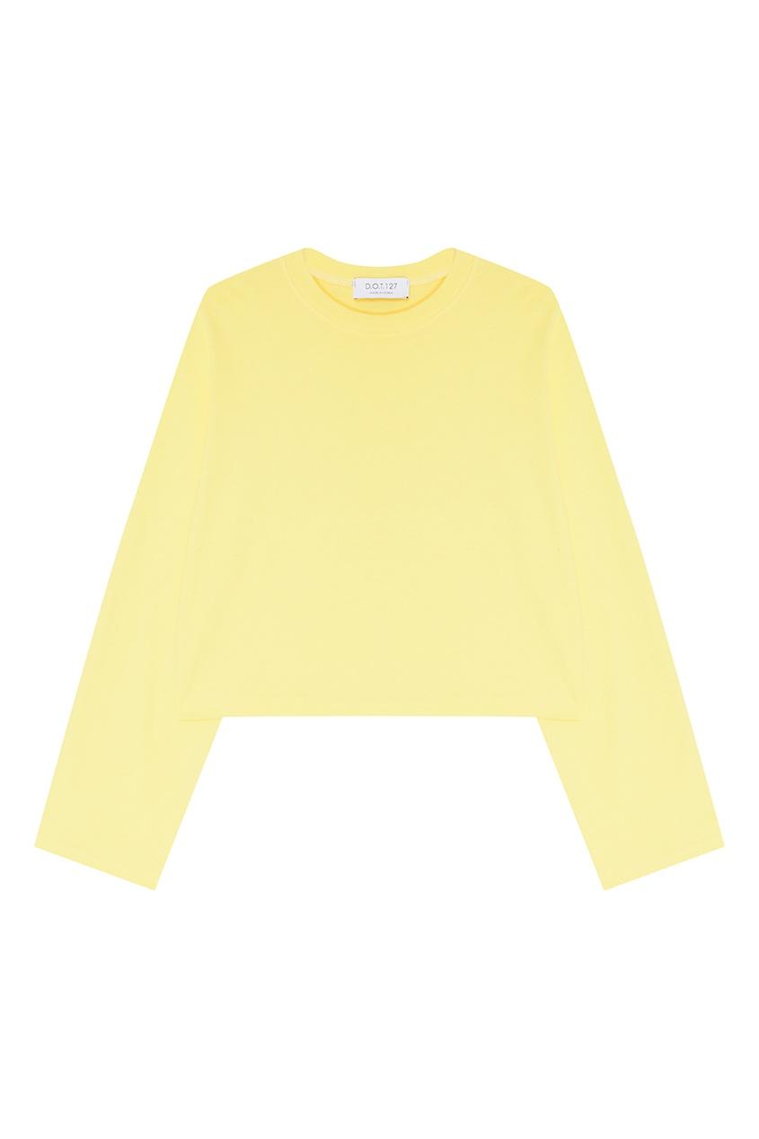 Желтый джемпер из хлопкового микса