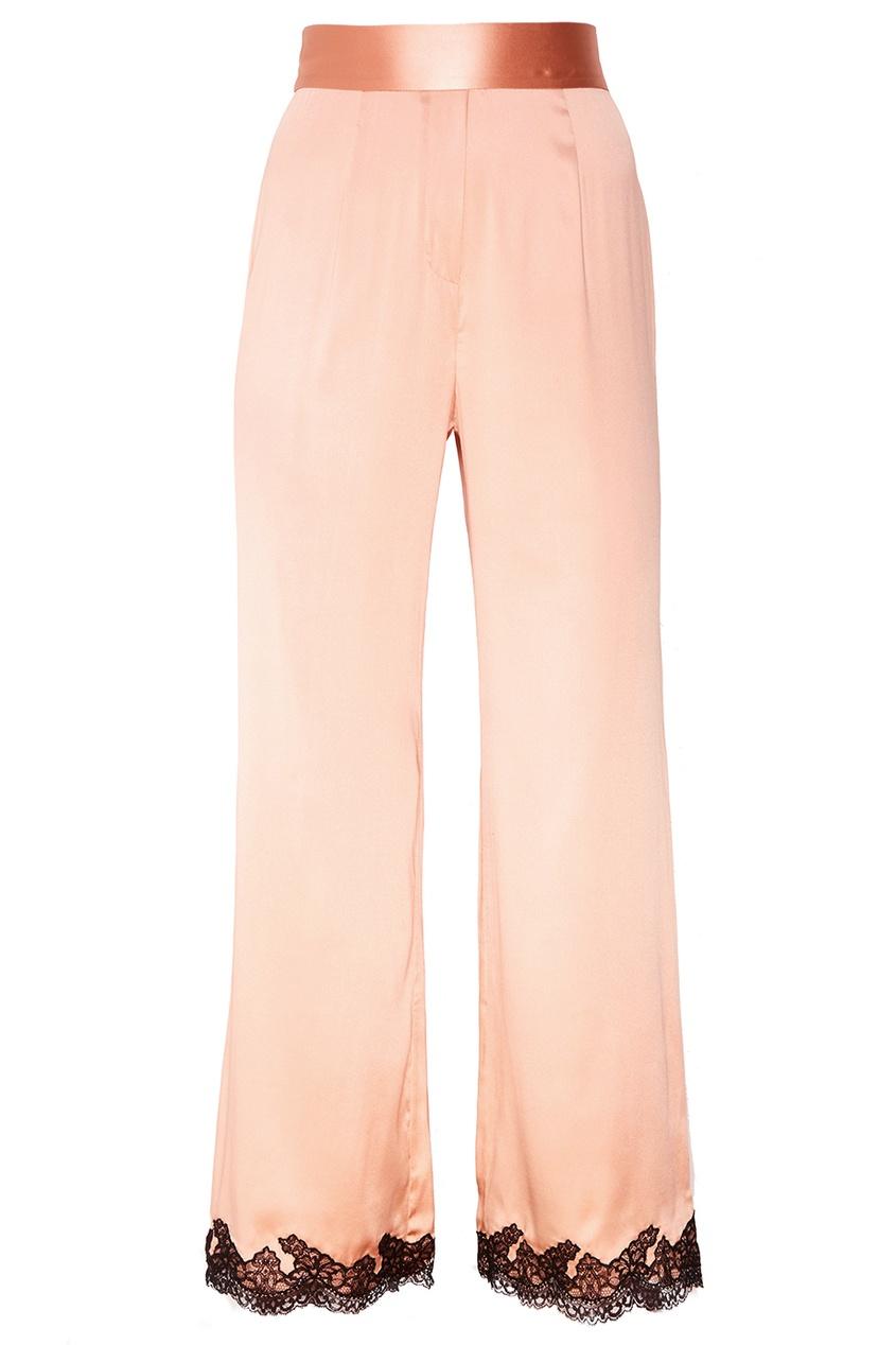 Розовые шелковые брюки Amelea