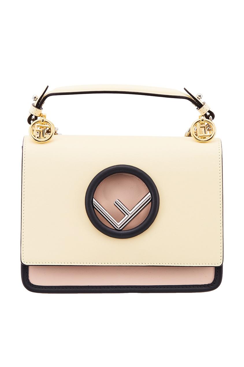 Fendi Кожаная сумка с цепочками сумка fendi gebnegozionline79818