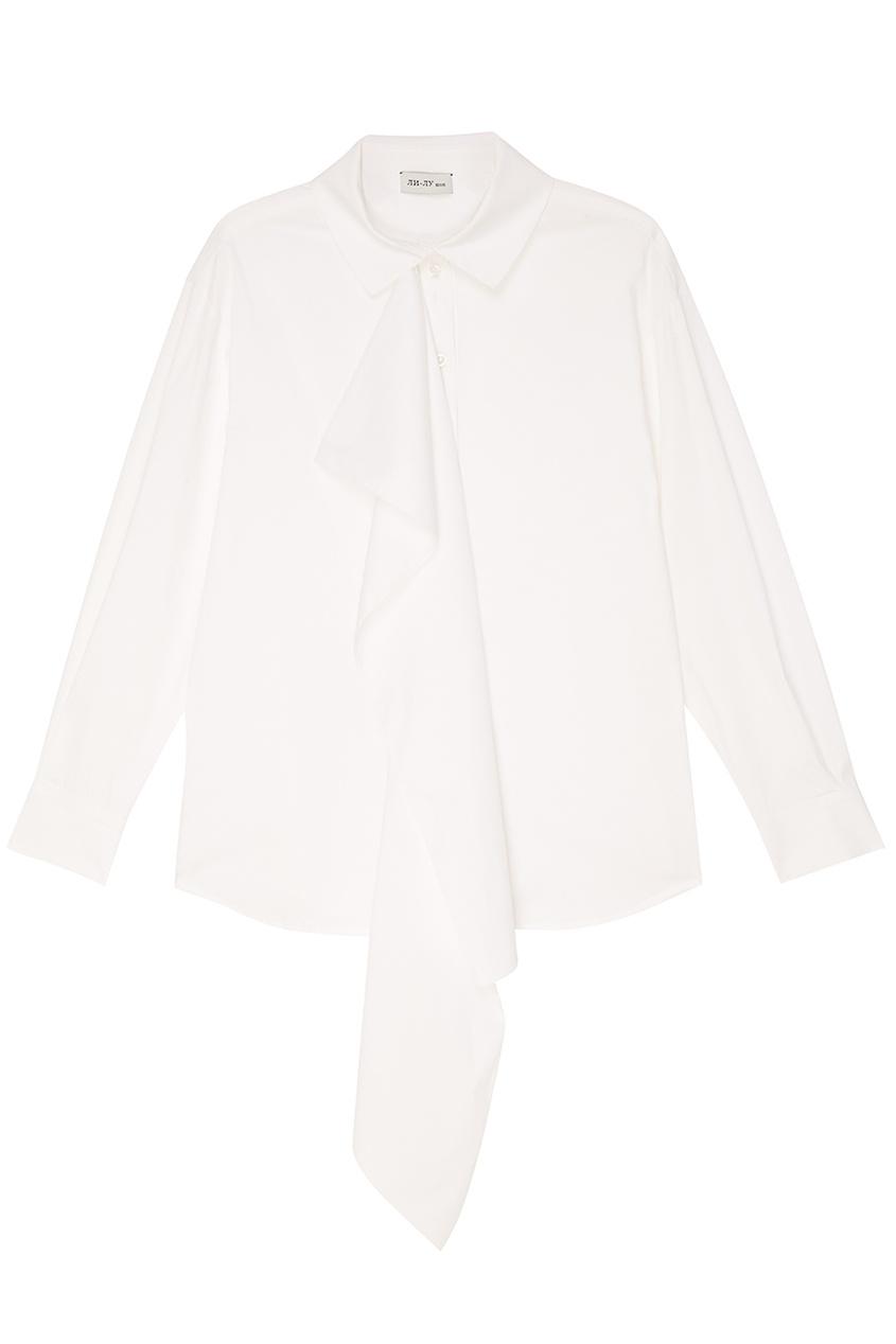 женская блузка ли-лу, белая