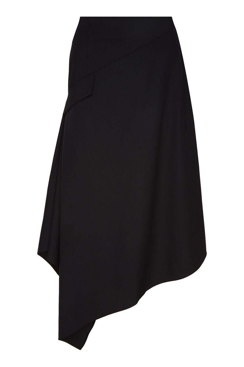 Черная шерстяная юбка ЛИ-ЛУ