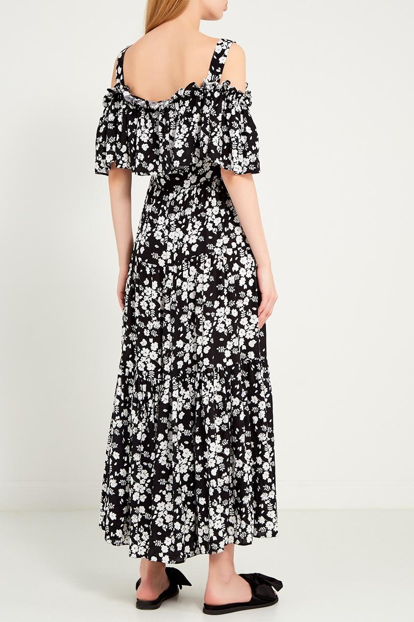 женское платье ли-лу, черное