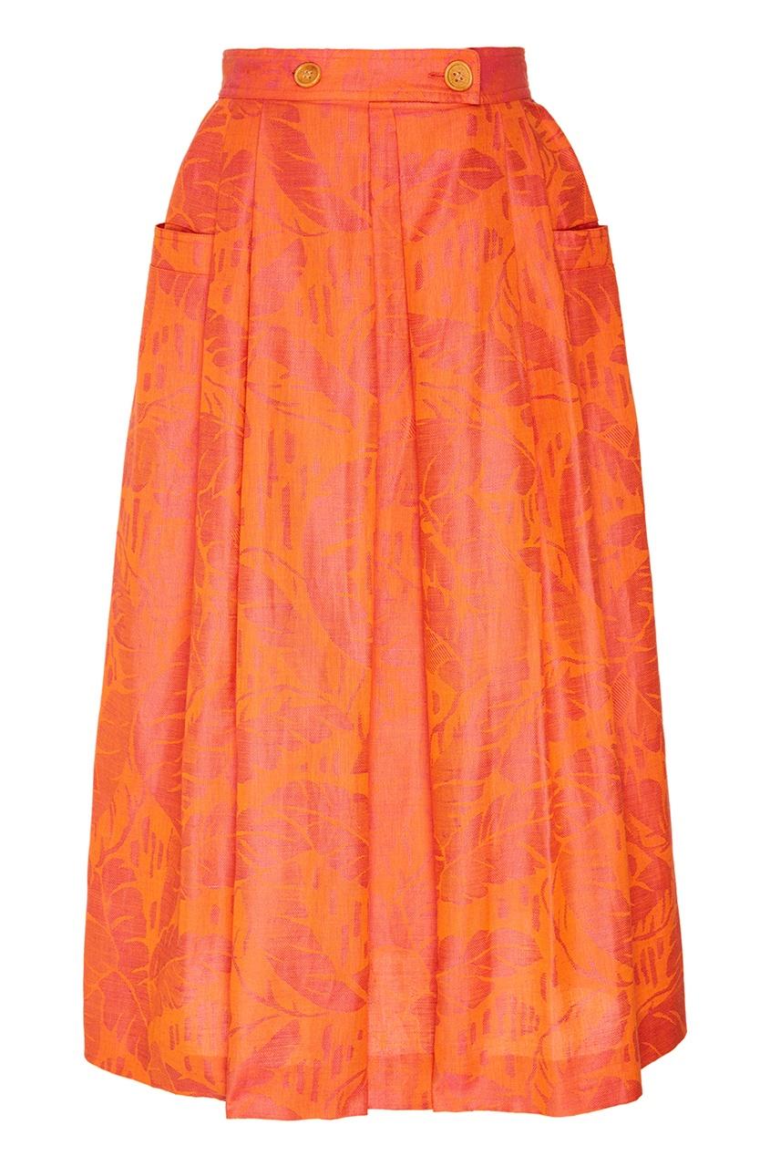 Christian Dior Vintage Юбка-миди с растительным узором (80е гг) christian dior vintage винтажная брошь подвеска 80 е