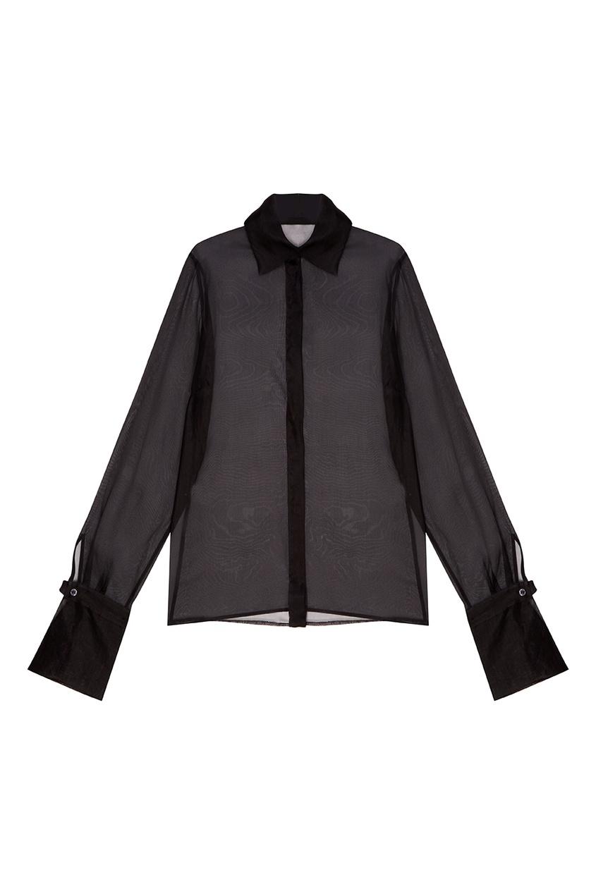 Vintage No Names Прозрачная черная блузка из шелка (90е гг) vintage no names юбка трапеция 1980 е