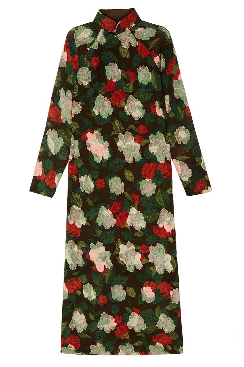 Vintage No Names Шелковое платье с цветочным принтом (90е гг) vintage no names крест винтажный 60е