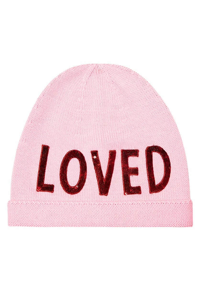 женская шапка gucci, розовая