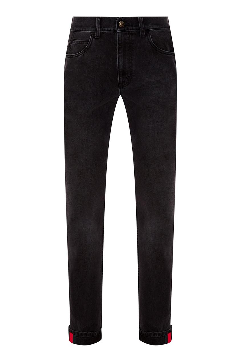 Купить Черные прямые джинсы от Gucci Man черного цвета