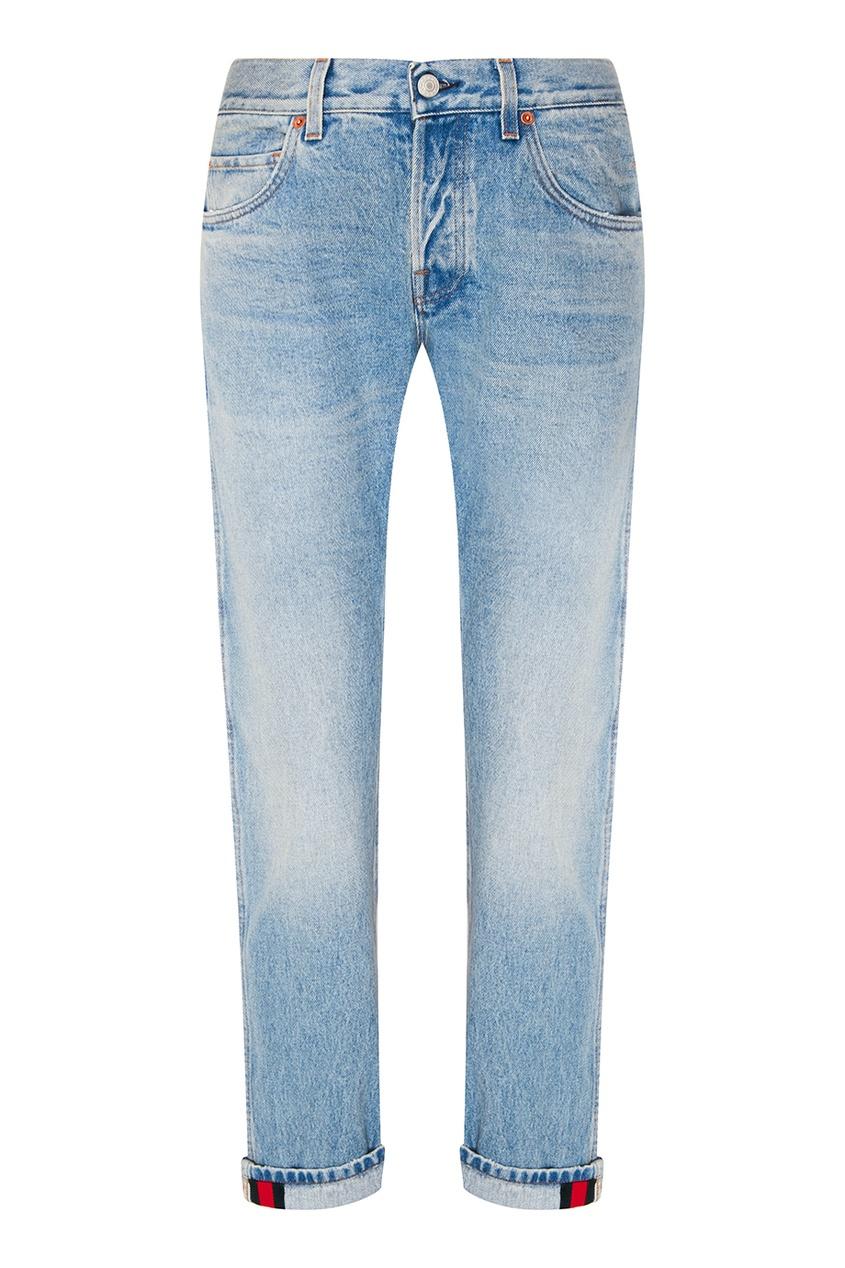 Gucci Голубые джинсы с потертостями full circle джинсы с потертостями