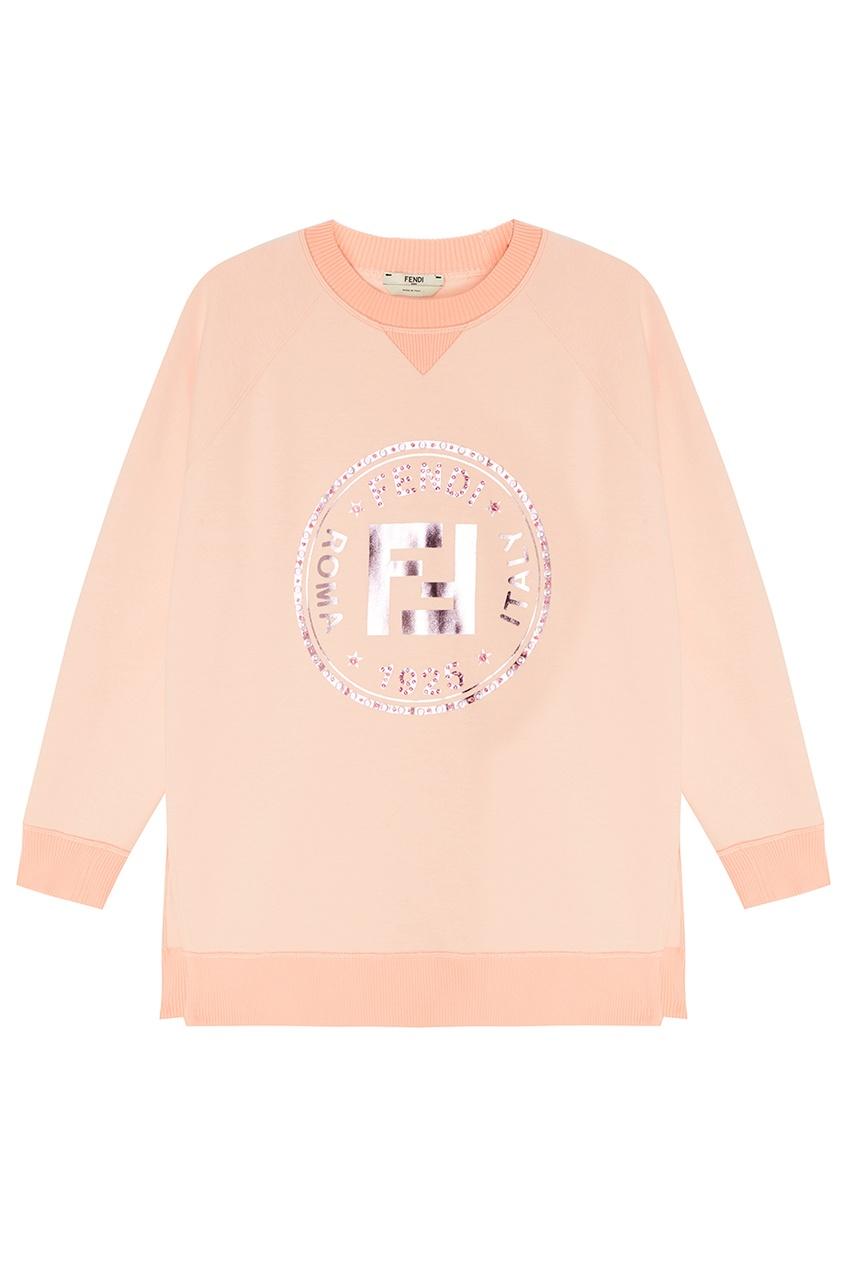 женский свитшот fendi, розовый