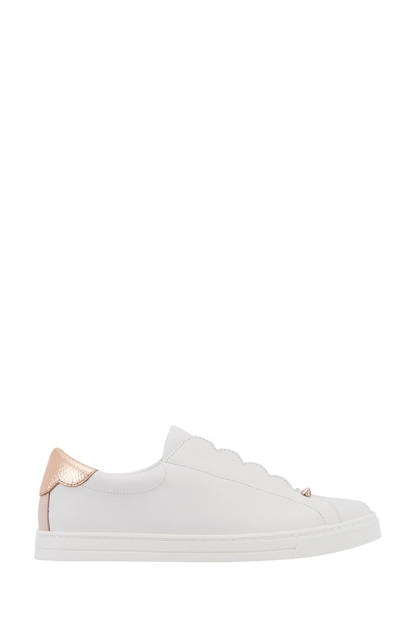 Fendi Белые кожаные слипоны
