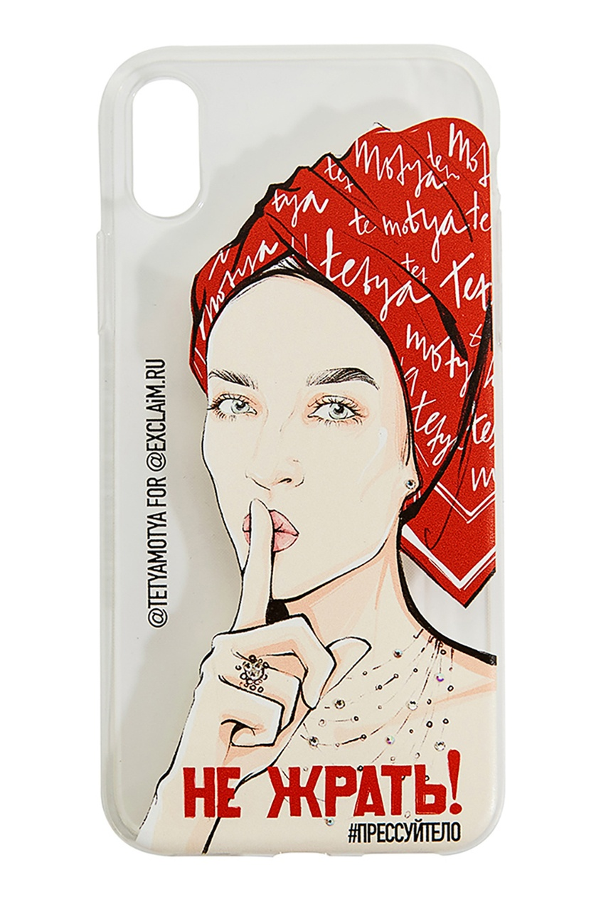 Exclaim Чехол для iPhone X чехол для iphone interstep для iphone x soft t metal adv красный