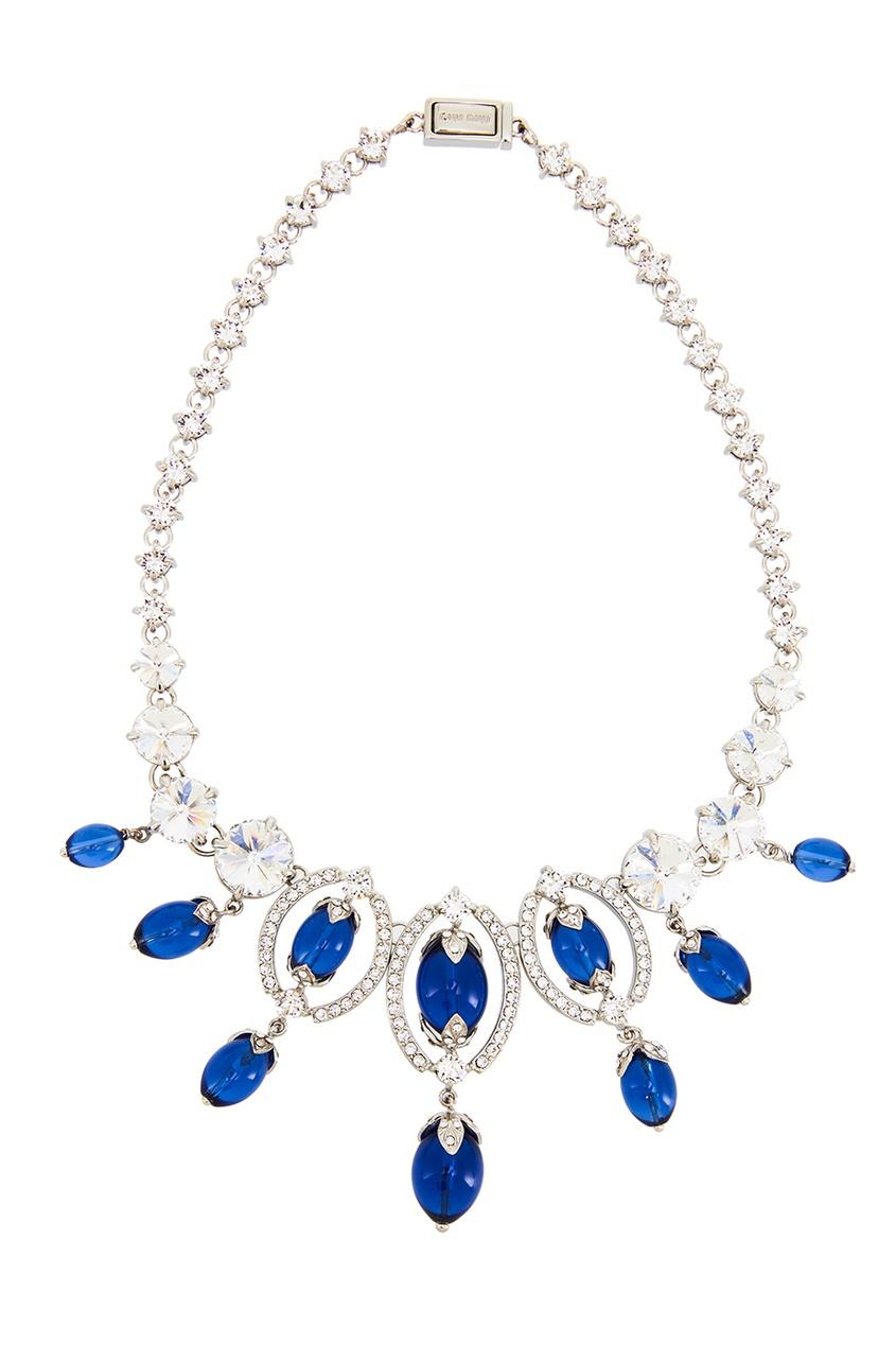 Miu Miu Колье с синими камнями