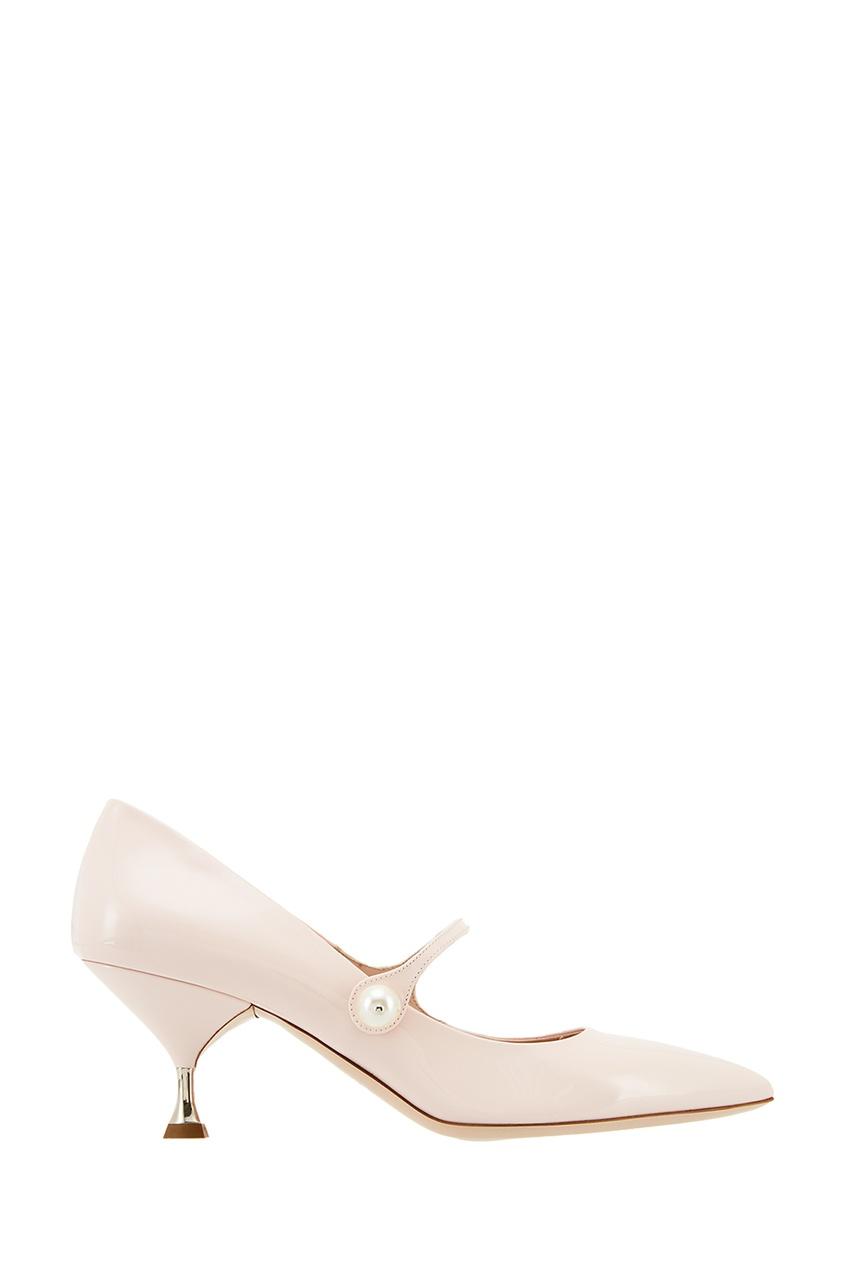 Розовые лакированные туфли Miu Miu