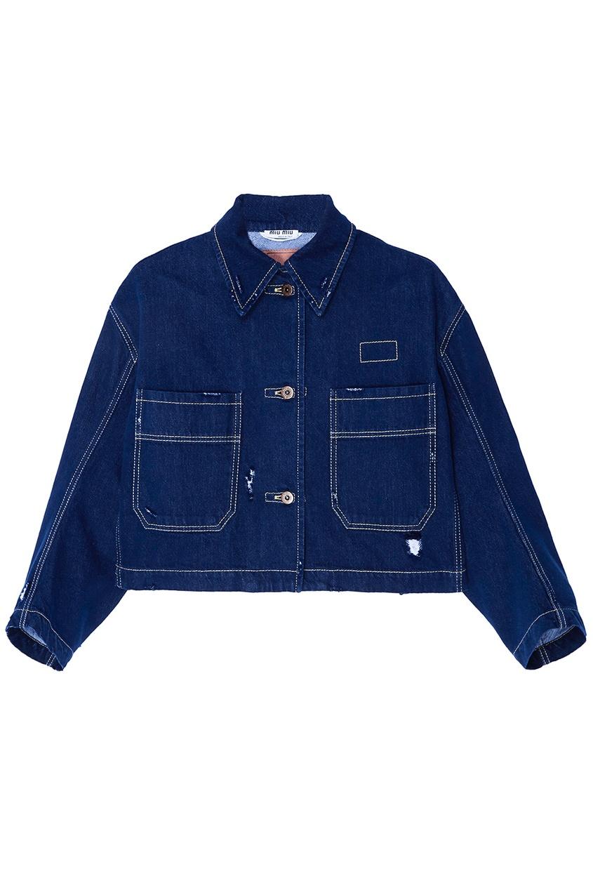 Синий джинсовый жакет