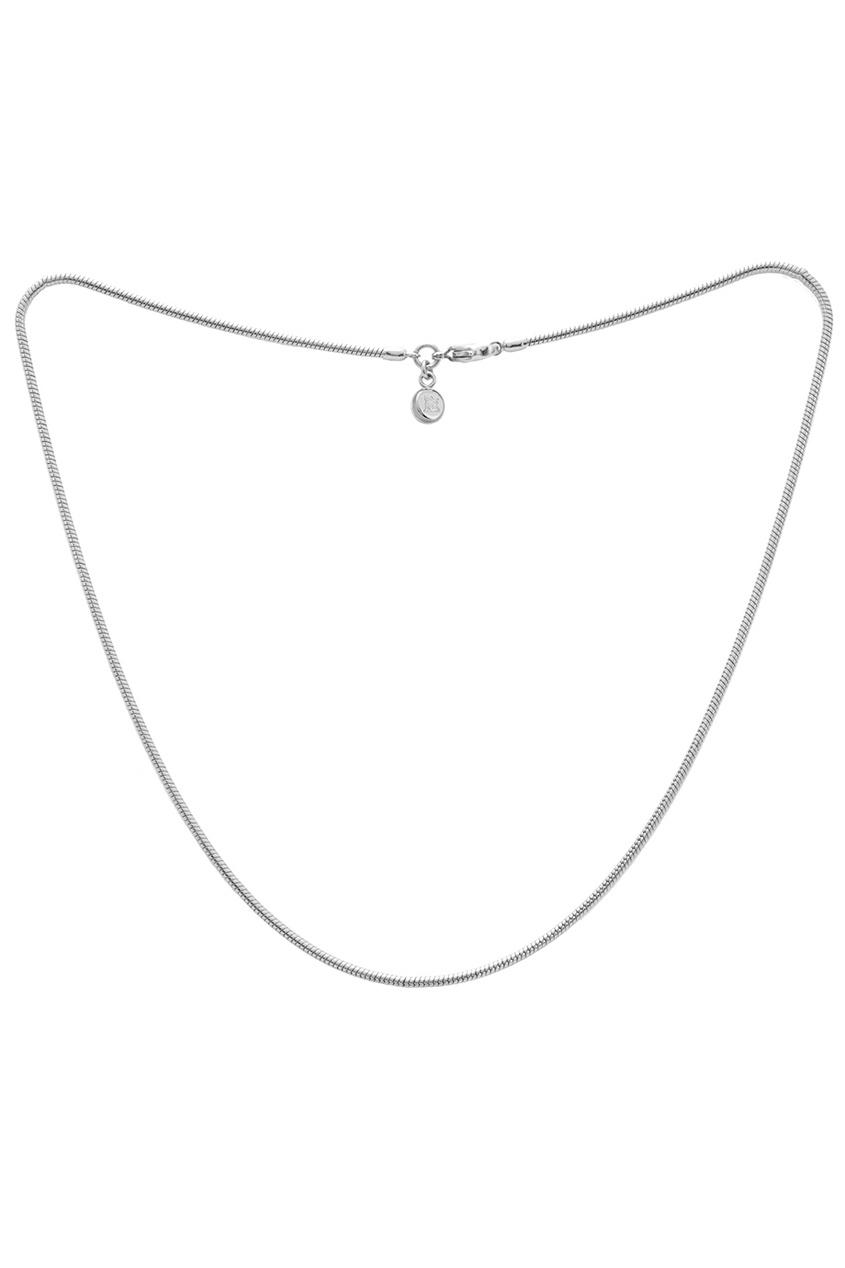 FREYWILLE Серебристая цепочка с плетением «шнурок» freywille цепочка змейка