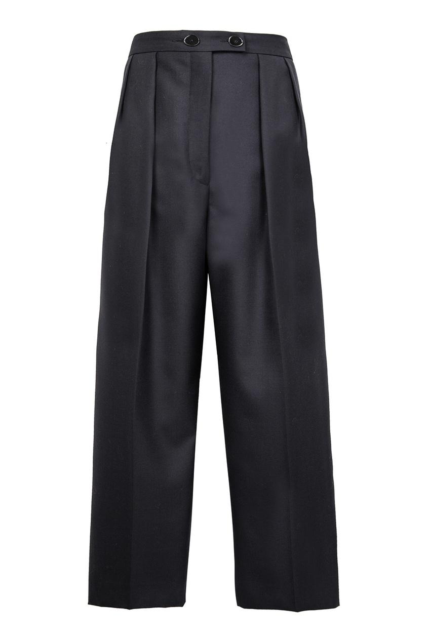 Sandro Широкие черные брюки elizabeth and james широкие брюки