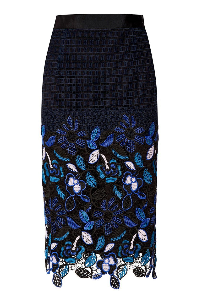 Ажурная юбка с цветами