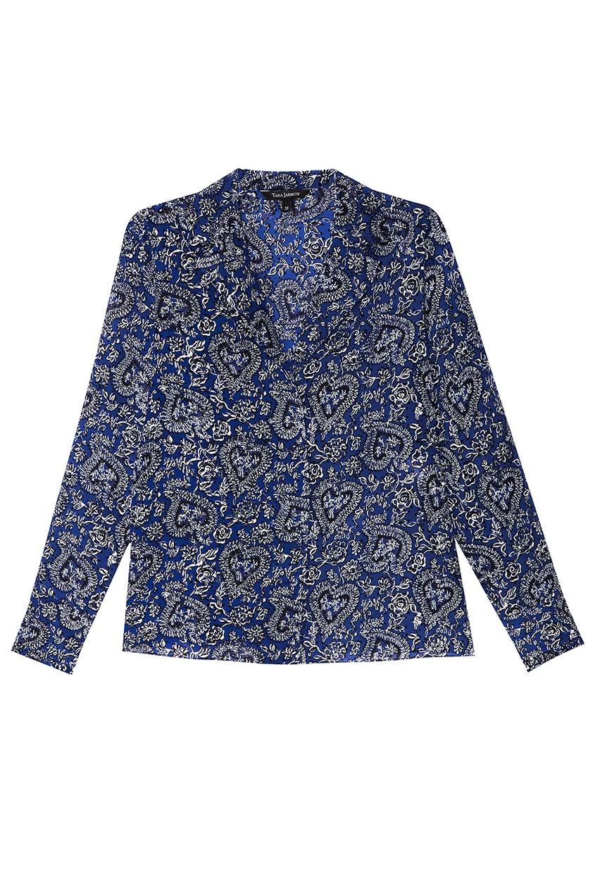 Блузка с контрастным принтом