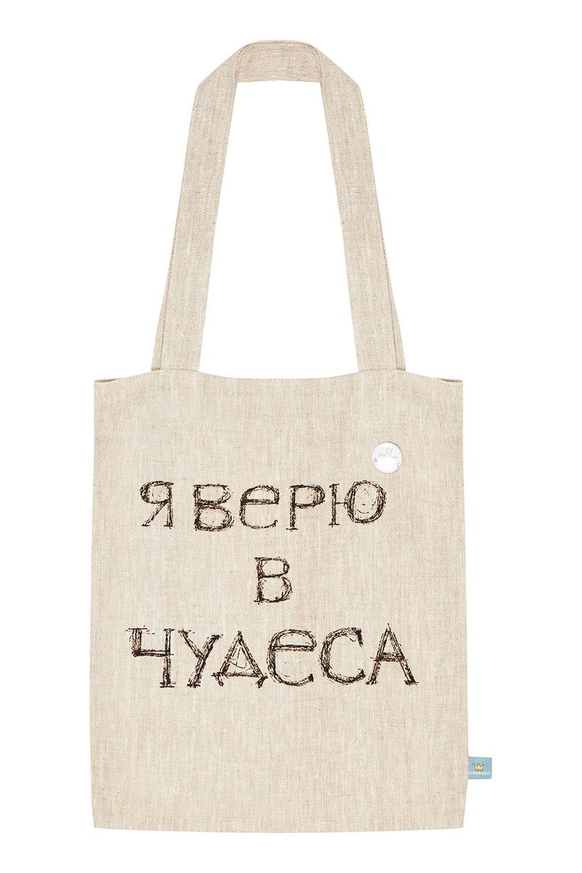 Текстильная сумка с надписью LISA&LEO