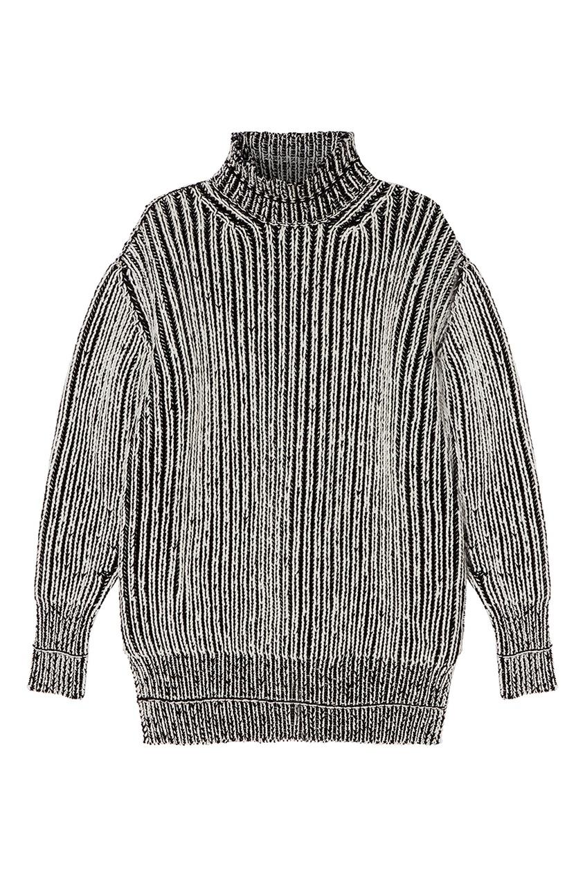 Balenciaga Шерстяной свитер с контрастной отделкой balenciaga шерстяной пуловер