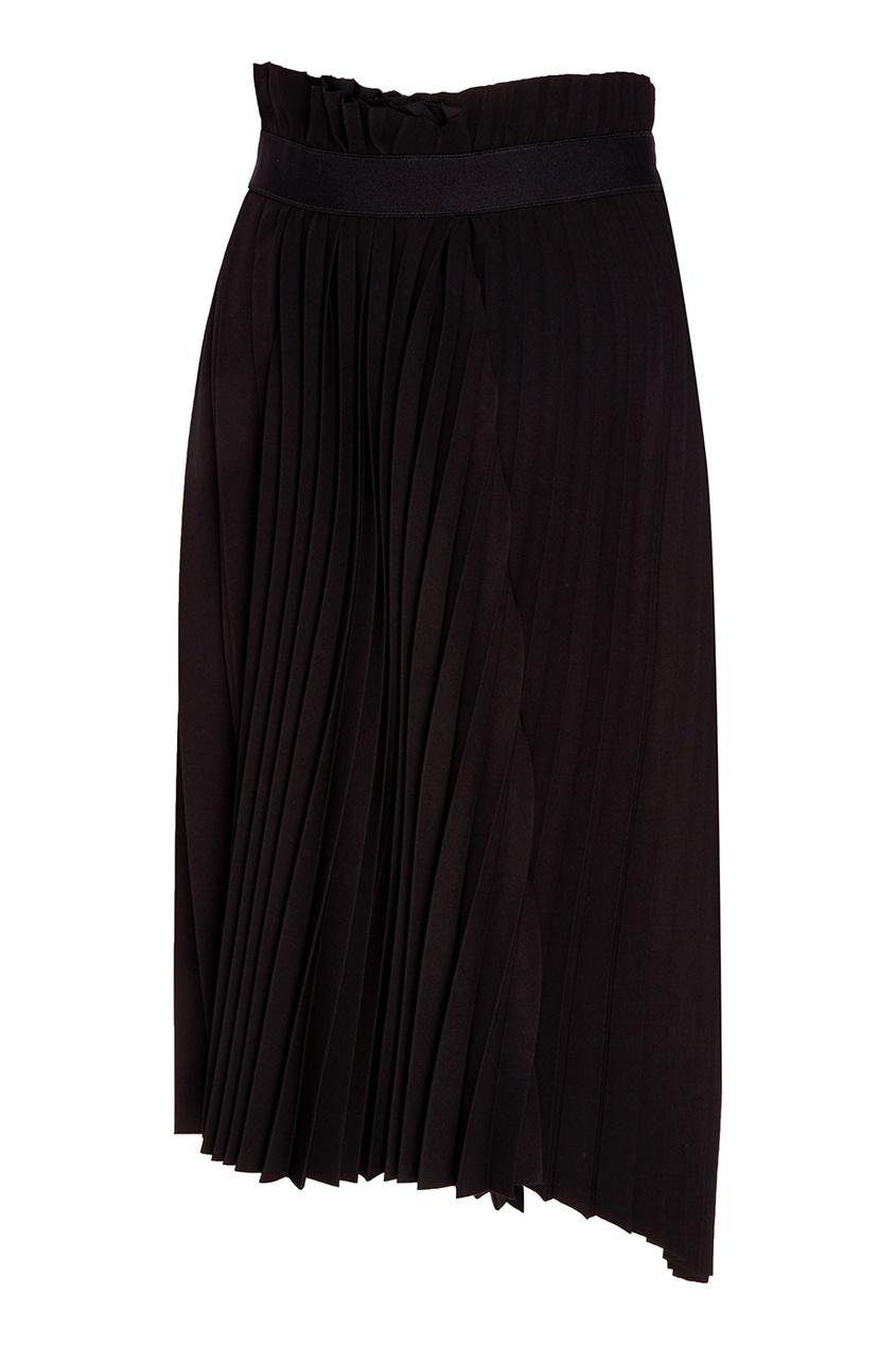 Balenciaga Черная юбка-плиссе юбка брюки плиссе