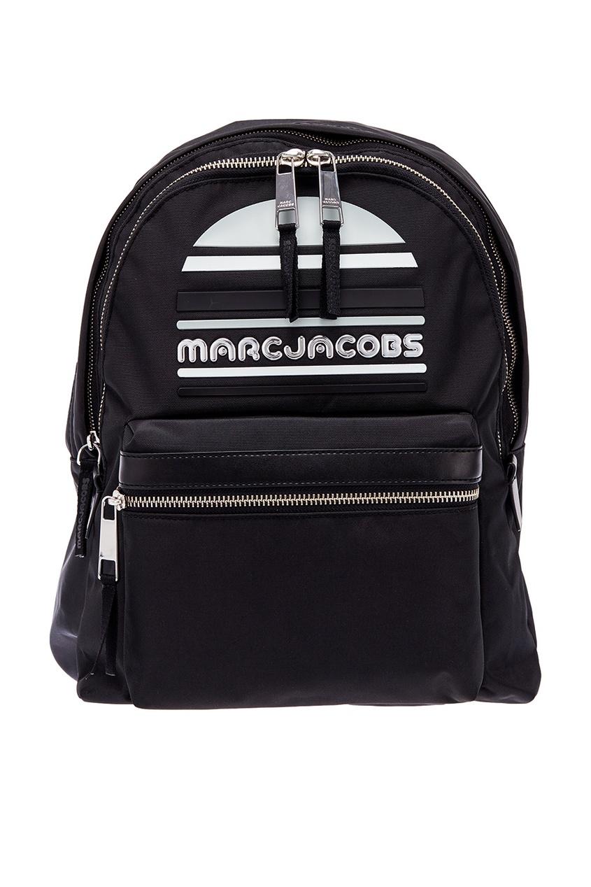 Черный рюкзак с большим логотипом