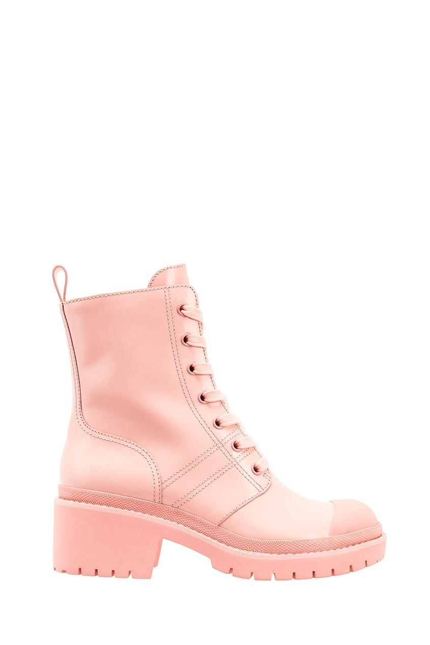 Купить со скидкой Розовые ботинки на шнуровке