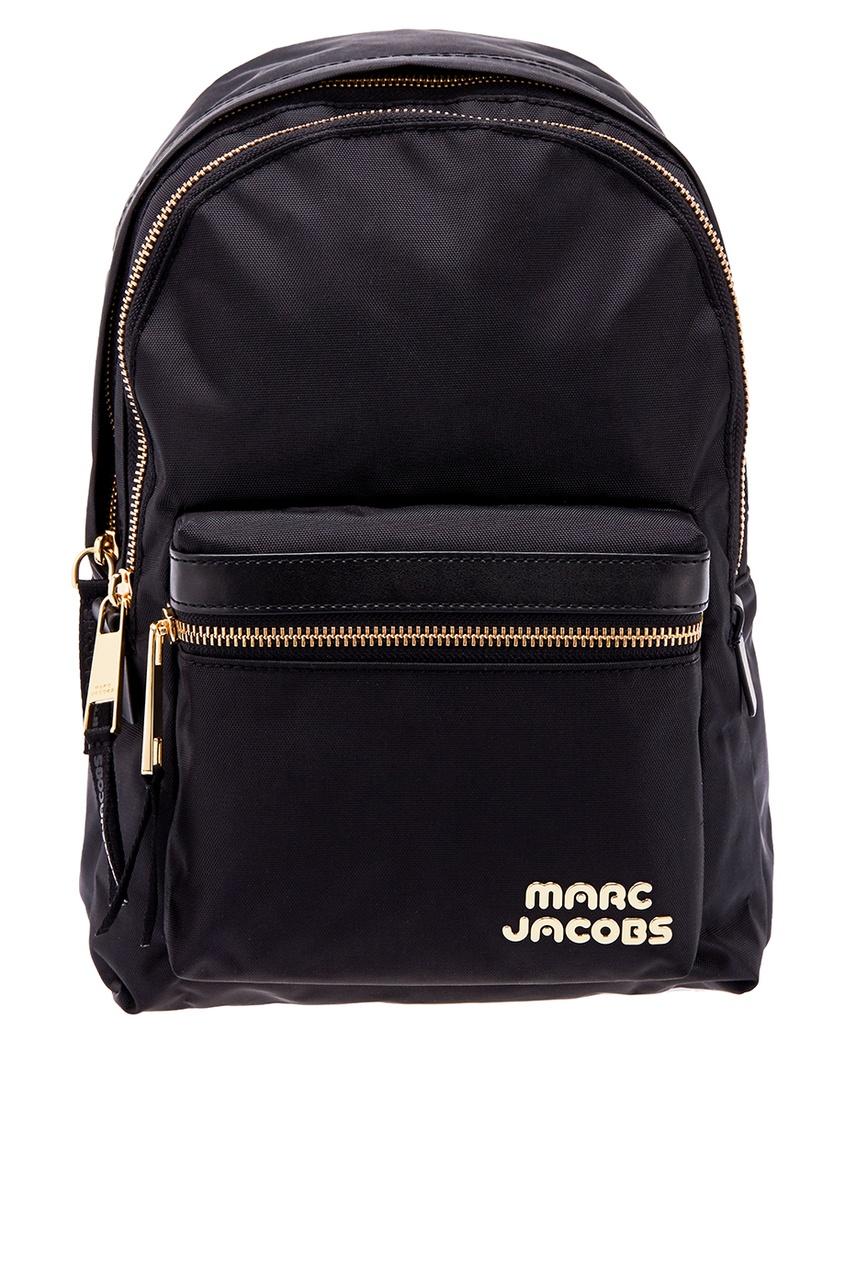 Маленький черный рюкзак с логотипом